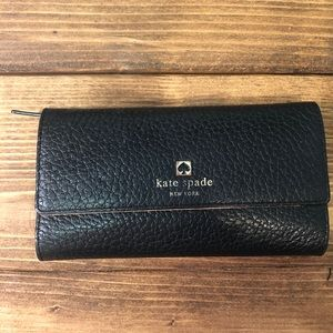 Kate Spade Pebbled Leather Trifold Wallet